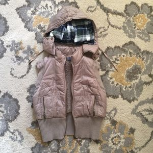 Free People Winter Vest with detachable hood